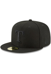 Texas Rangers New Era Basic BLK 59FIFTY Fitted Hat - Black