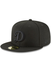 New Era Los Angeles Dodgers Mens Black Basic Black 59FIFTY Fitted Hat