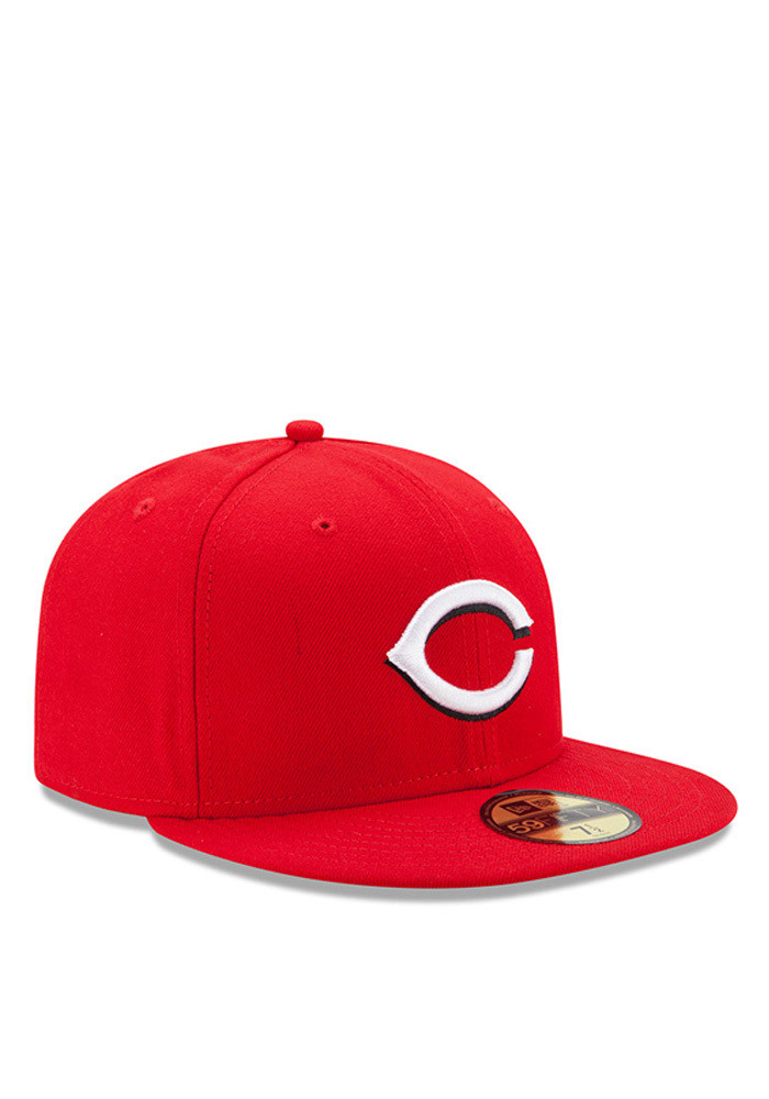New Era Cincinnati Reds Red Authentic Collection Youth Fitted Hat - Image 2