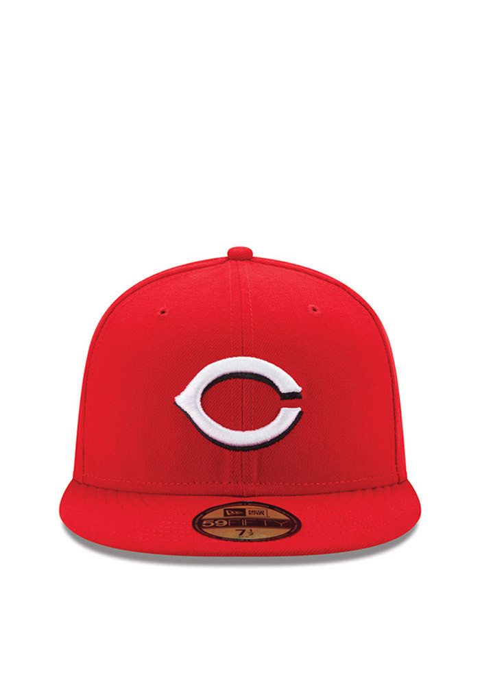 New Era Cincinnati Reds Red Authentic Collection Youth Fitted Hat - Image 3