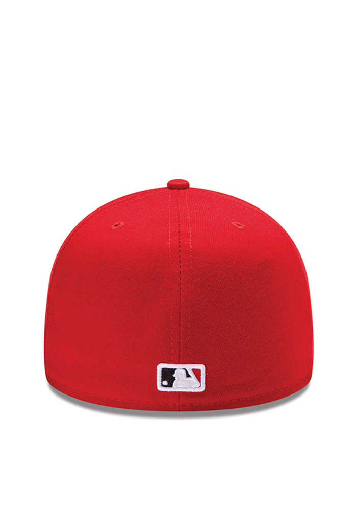 New Era Cincinnati Reds Red Authentic Collection Youth Fitted Hat - Image 4