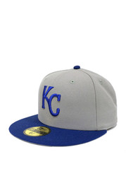 Kansas City Royals New Era 1999 Road 59FIFTY Fitted Hat - Grey
