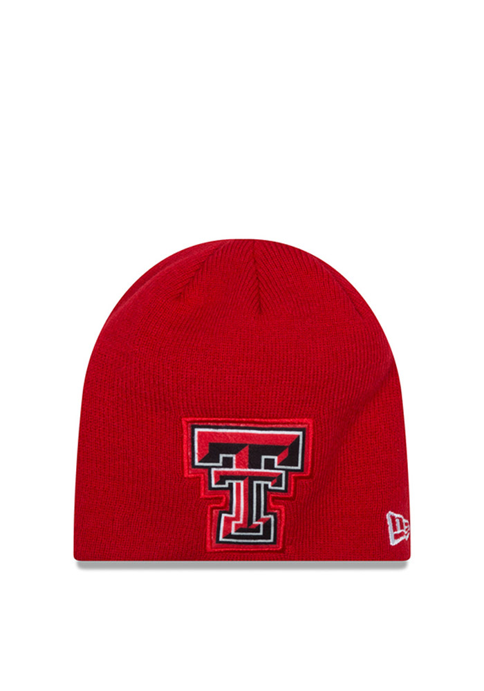New Era Texas Tech Red Raiders Red Jr Oversizer Kids Knit Hat - Image 1