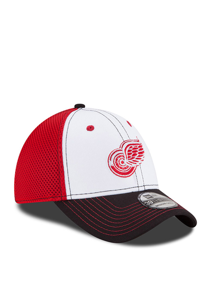 New Era Detroit Red Wings Mens Red White Front Flex Hat - Image 2