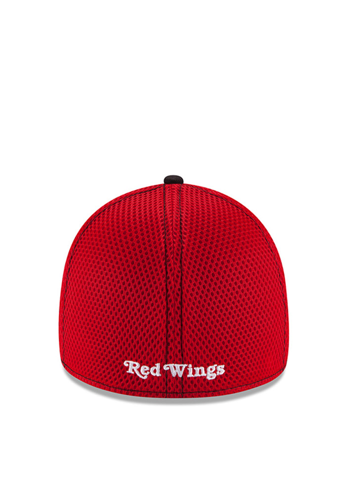 New Era Detroit Red Wings Mens Red White Front Flex Hat - Image 4