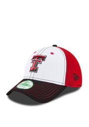New Era TTech Red Raiders black/red Jr. White Front Youth Flex Hat