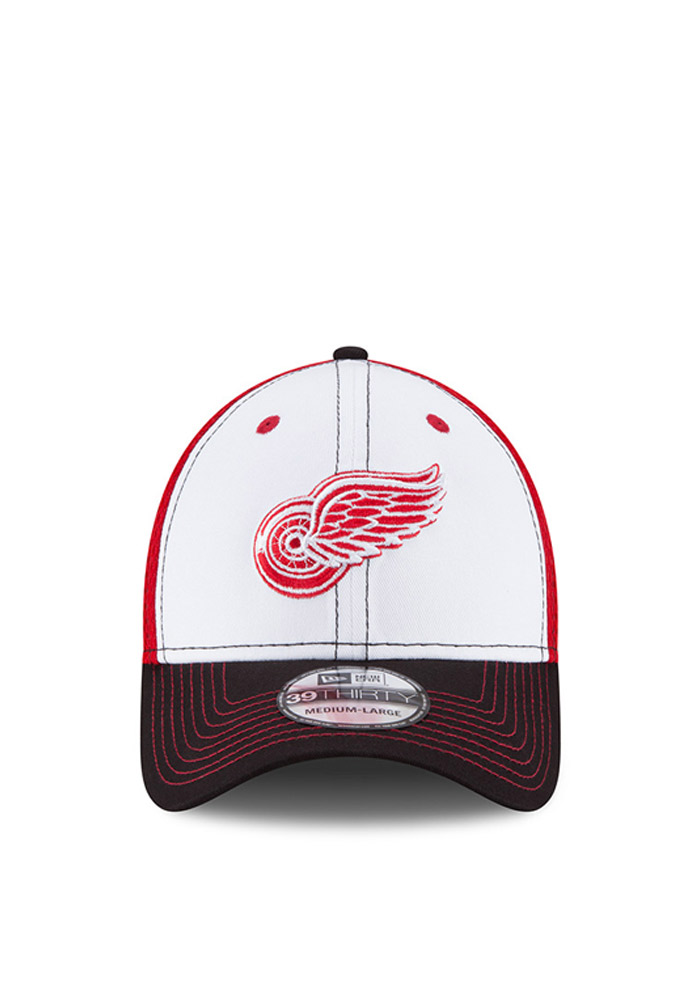 Detroit Red Wings Red Jr White Front Youth Flex Hat - Image 3