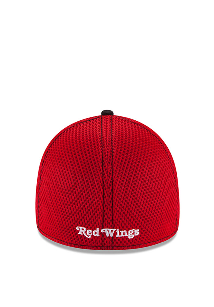 Detroit Red Wings Red Jr White Front Youth Flex Hat - Image 4