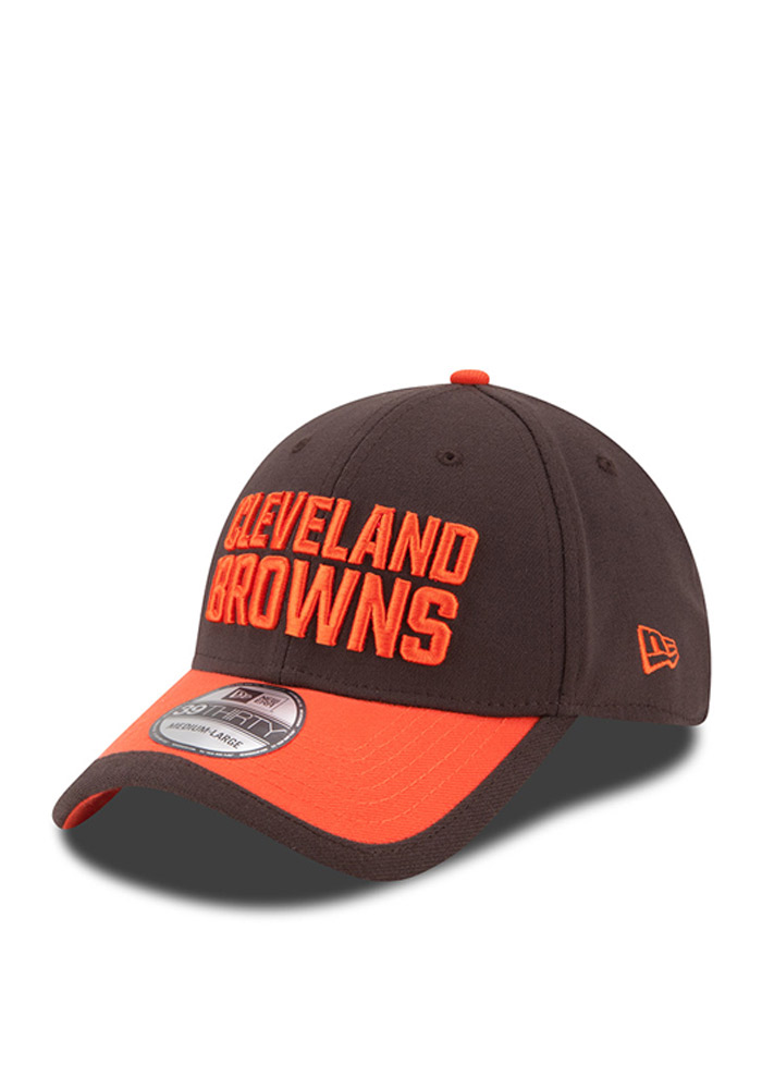 a80808862ab564 ... usa new era cleveland browns mens brown sideline official flex hat  image 1 6f651 1f4e5