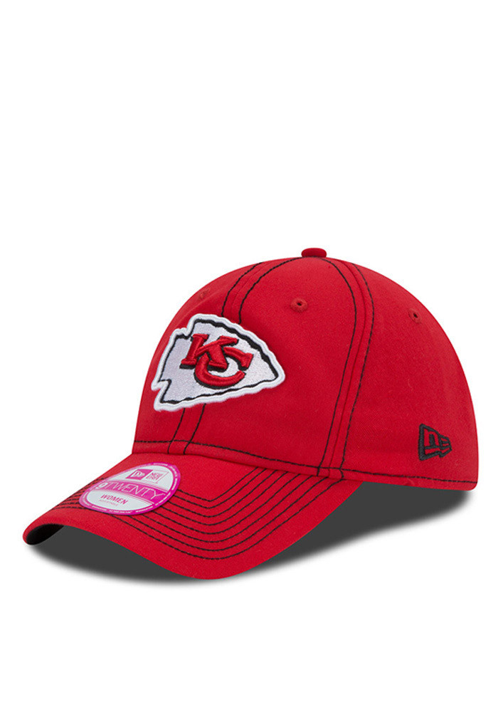 New Era Kansas City Chiefs Red Select Fresh Womens Adjustable Hat - Image 1
