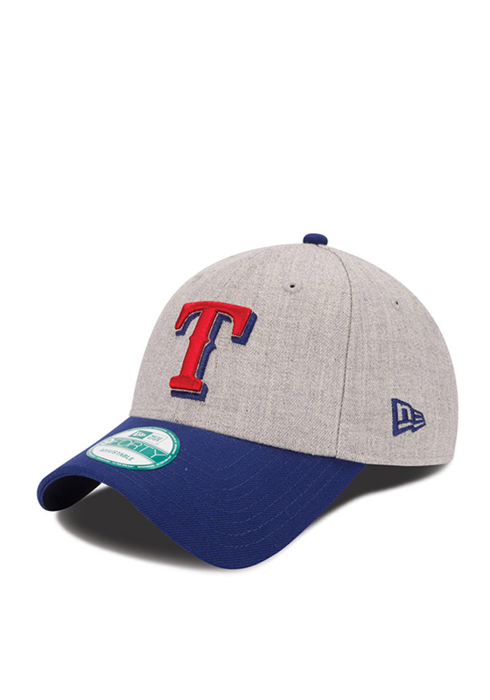 New Era Texas Rangers The League Heather 9FORTY Adjustable Hat - Grey - Image 1