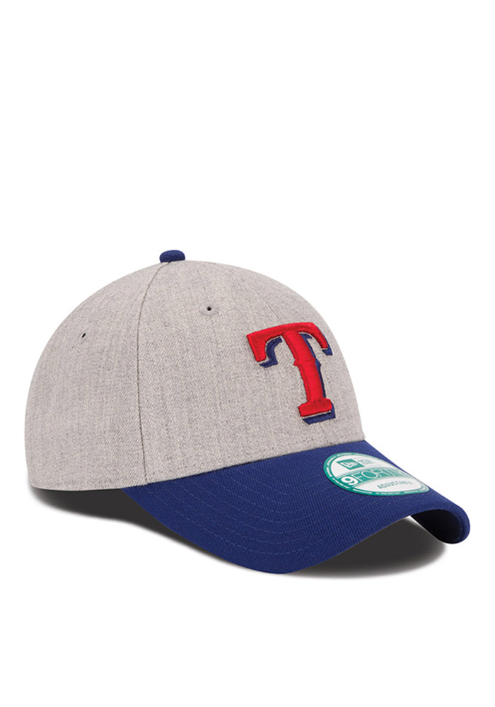 New Era Texas Rangers The League Heather 9FORTY Adjustable Hat - Grey - Image 2