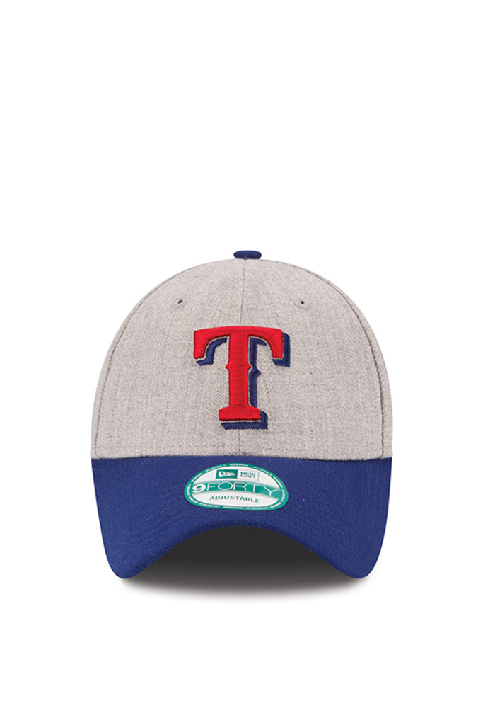 New Era Texas Rangers The League Heather 9FORTY Adjustable Hat - Grey - Image 3