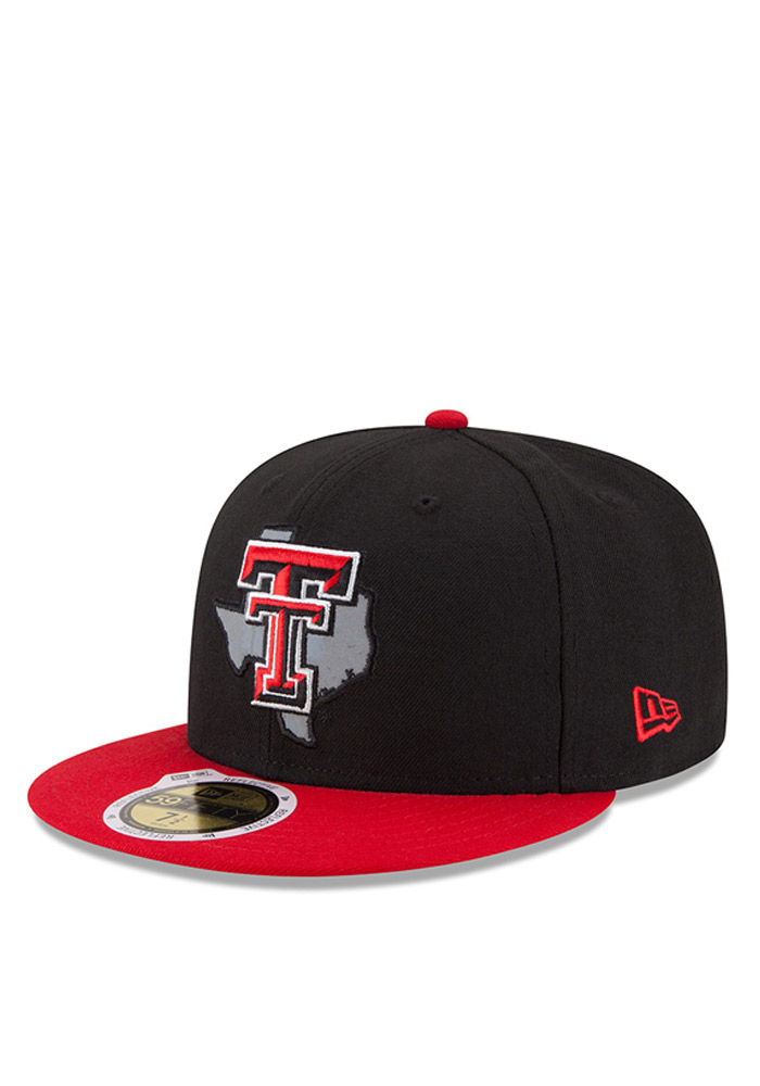 a25934953a1 New Era Texas Tech Red Raiders Mens Black State Flective Redux Fitted Hat -  Image 1