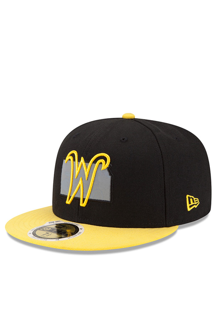 New Era Wichita State Shockers Mens Black State Flective Redux Fitted Hat - Image 1