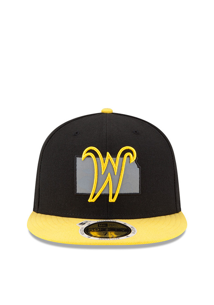 New Era Wichita State Shockers Mens Black State Flective Redux Fitted Hat - Image 3
