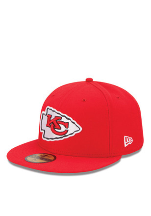 0a7f59953 Kansas City Chiefs New Era Red Sideline 5950 Fitted Hat