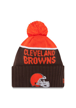 New Era Cleveland Browns Brown Official Sport Knit Hat