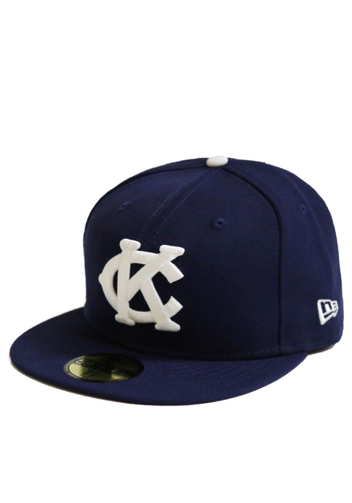 New Era Kansas City Monarchs Mens Navy Blue 2015 OF 5950 Fitted Hat - Image 1