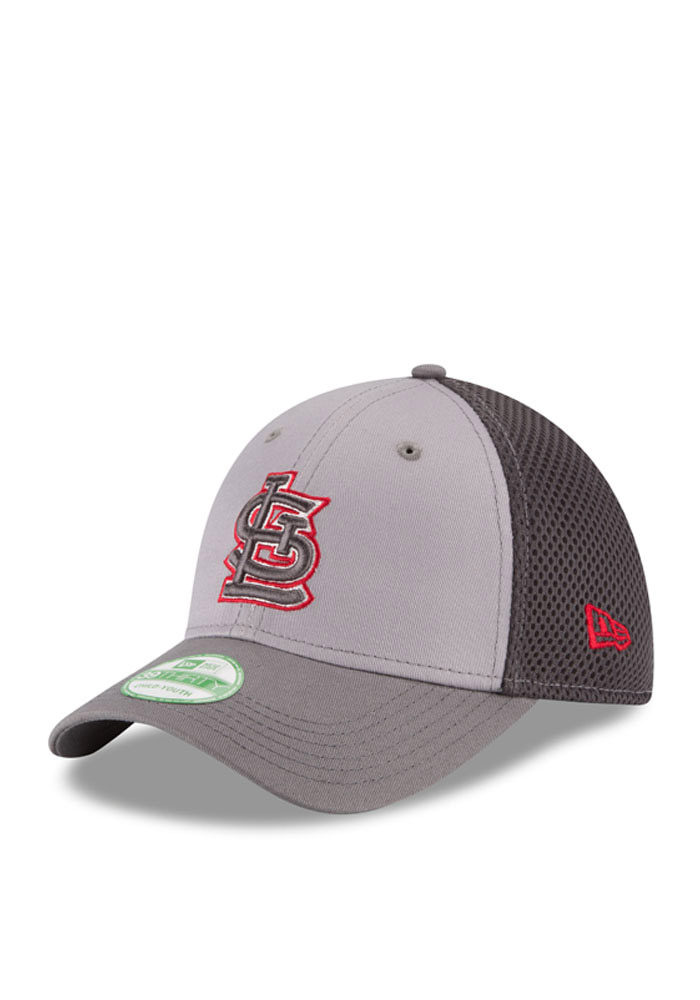 St Louis Cardinals Grey Grayed Out Neo 3930 Youth Flex Hat - Image 1