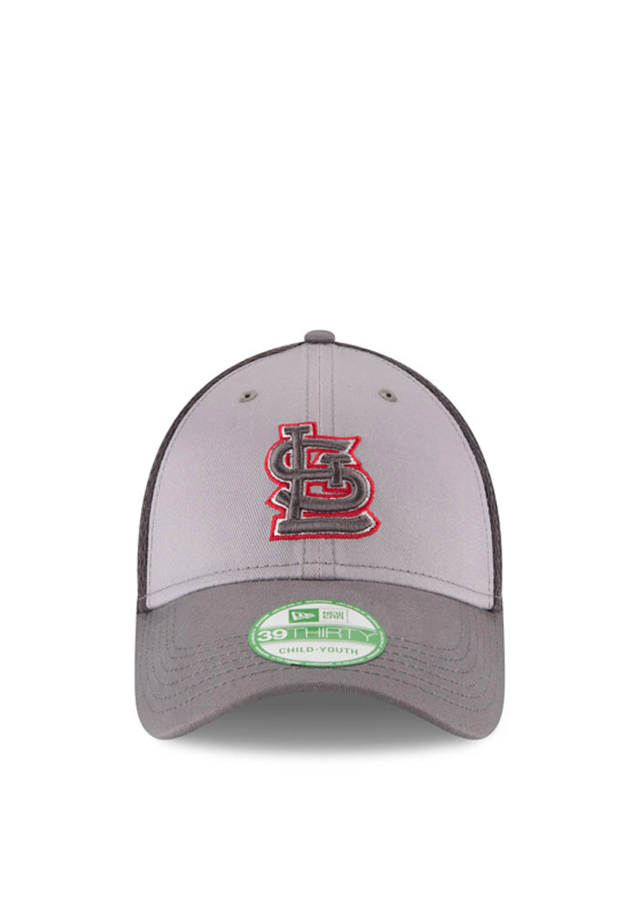 St Louis Cardinals Grey Grayed Out Neo 3930 Youth Flex Hat - Image 2