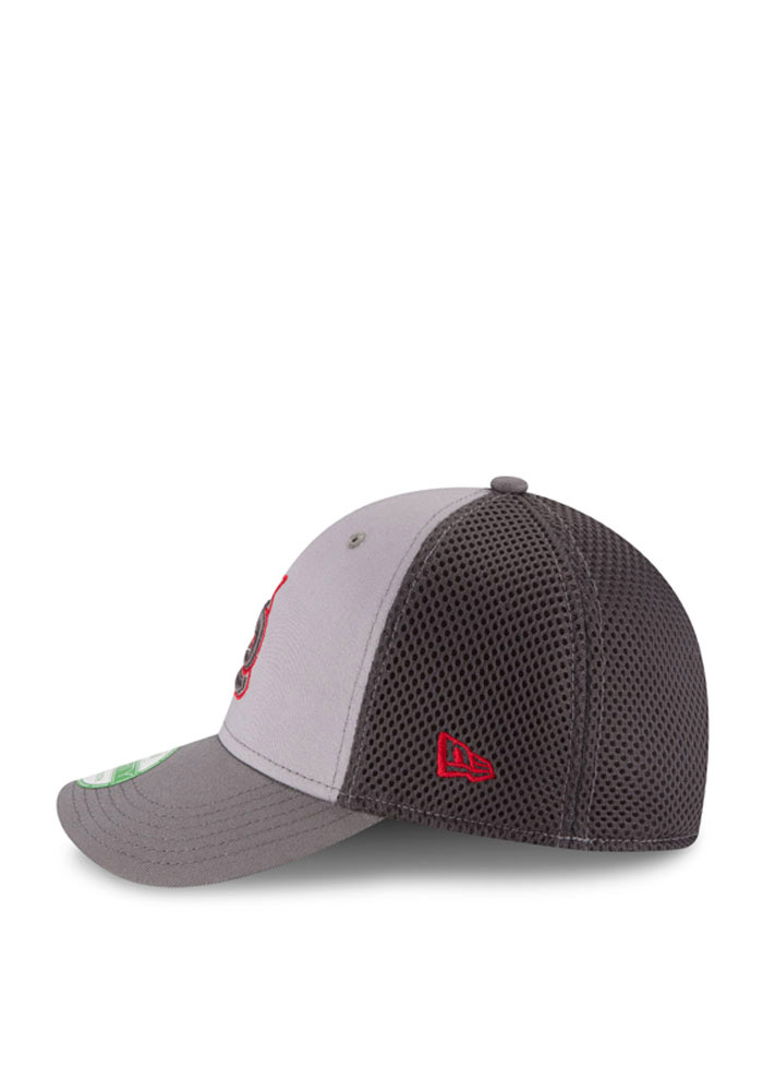 St Louis Cardinals Grey Grayed Out Neo 3930 Youth Flex Hat - Image 3