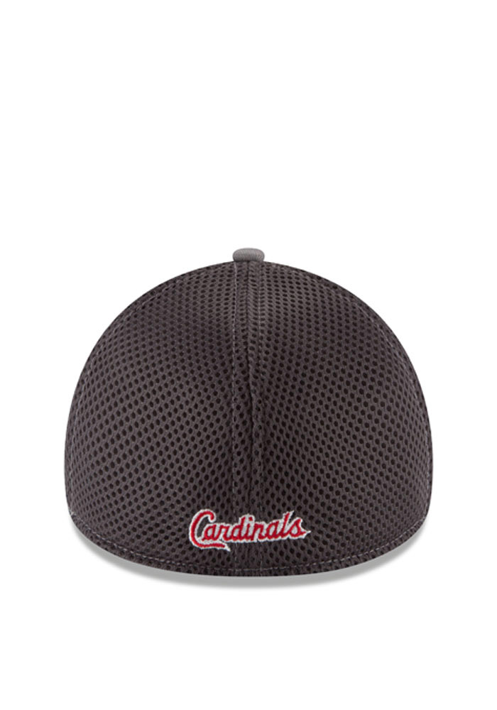 St Louis Cardinals Grey Grayed Out Neo 3930 Youth Flex Hat - Image 4
