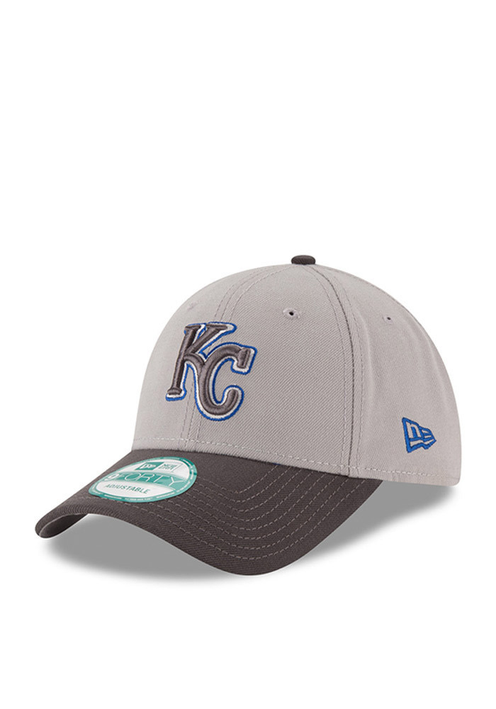 Kansas City Royals Grey The League 9FORTY Youth Adjustable Hat - Image 1