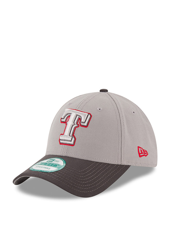 Texas Rangers Grey The League 9FORTY Youth Adjustable Hat - Image 1