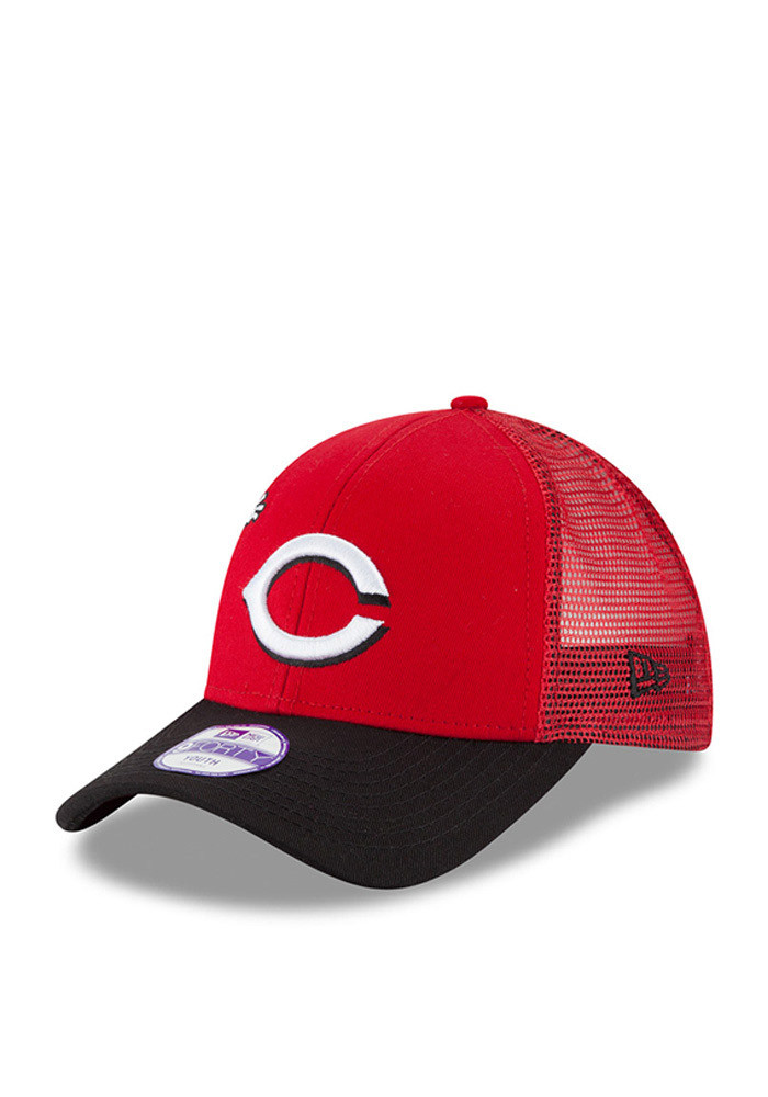 New Era Cincinnati Reds Red Mascot Mixer 940 Youth Adjustable Hat - Image 1