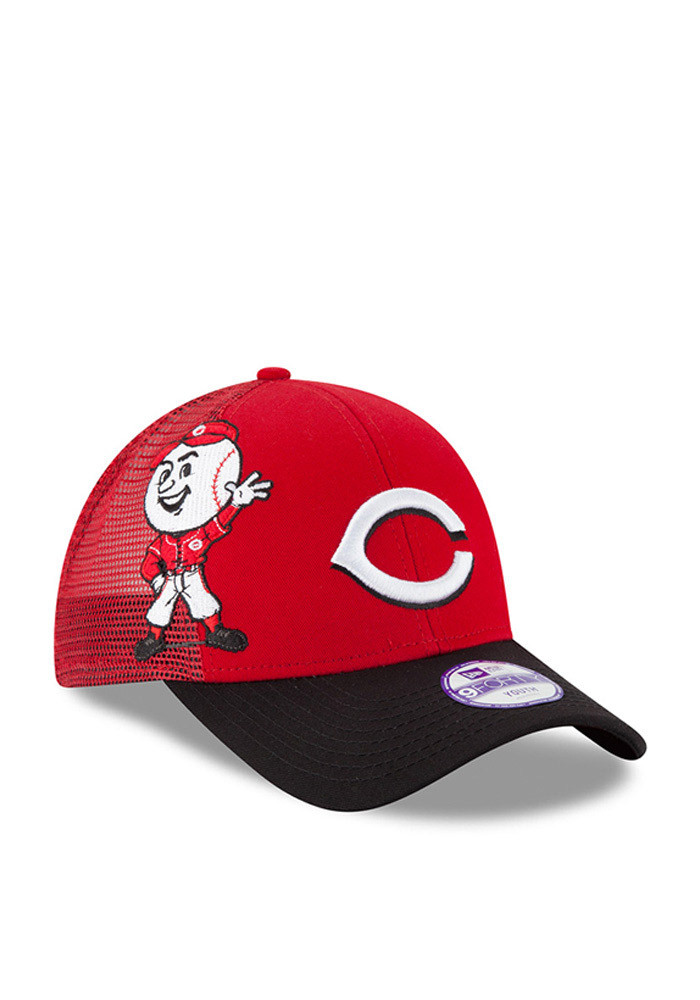 New Era Cincinnati Reds Red Mascot Mixer 940 Youth Adjustable Hat - Image 2