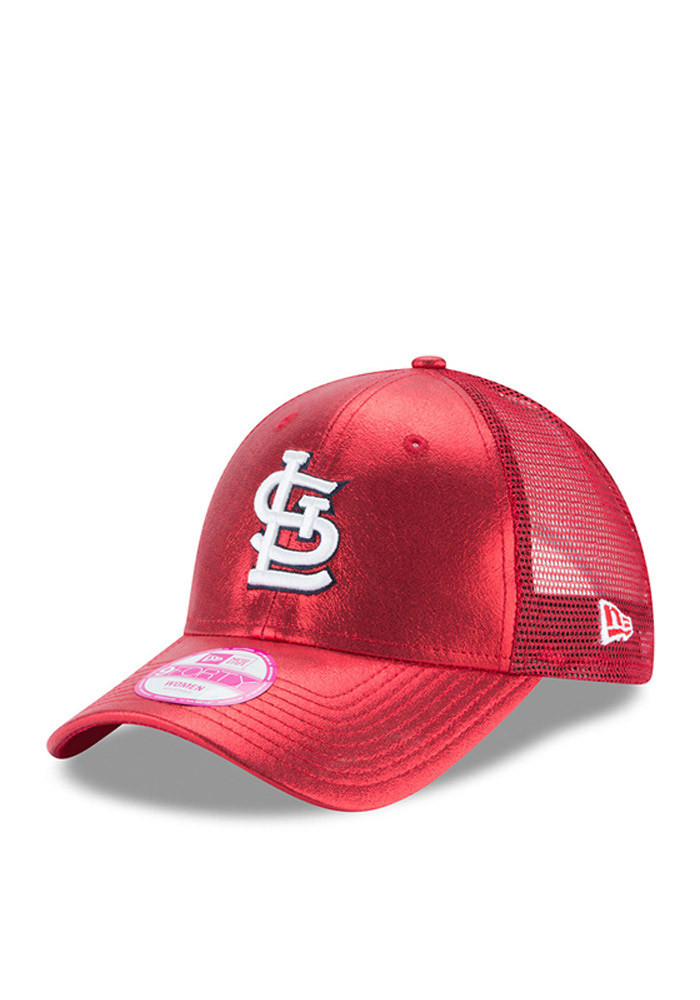 New Era St Louis Cardinals Red Glam Team 9FORTY Womens Adjustable Hat - Image 1