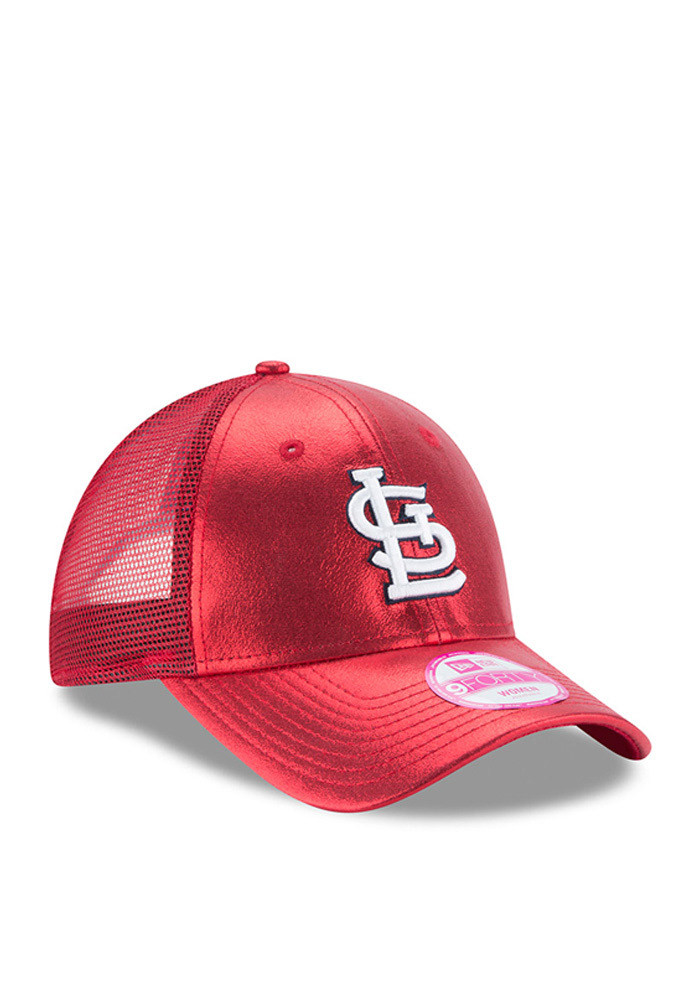 New Era St Louis Cardinals Red Glam Team 9FORTY Womens Adjustable Hat - Image 2