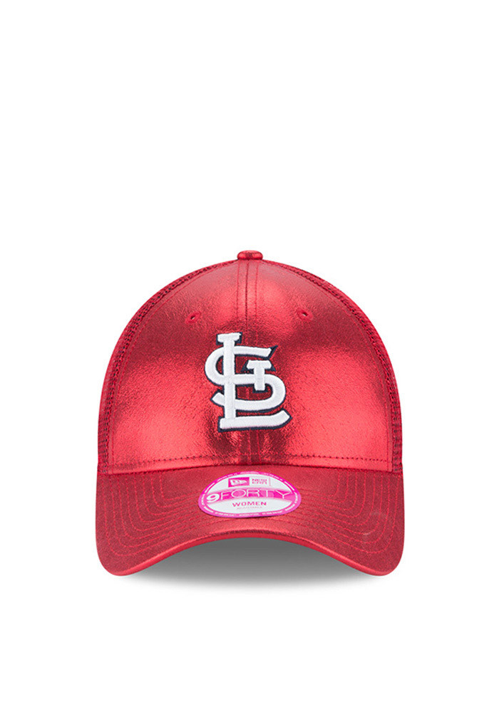 New Era St Louis Cardinals Red Glam Team 9FORTY Womens Adjustable Hat - Image 3