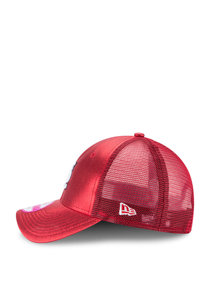 New Era St Louis Cardinals Red Glam Team 9FORTY Womens Adjustable Hat - Image 4