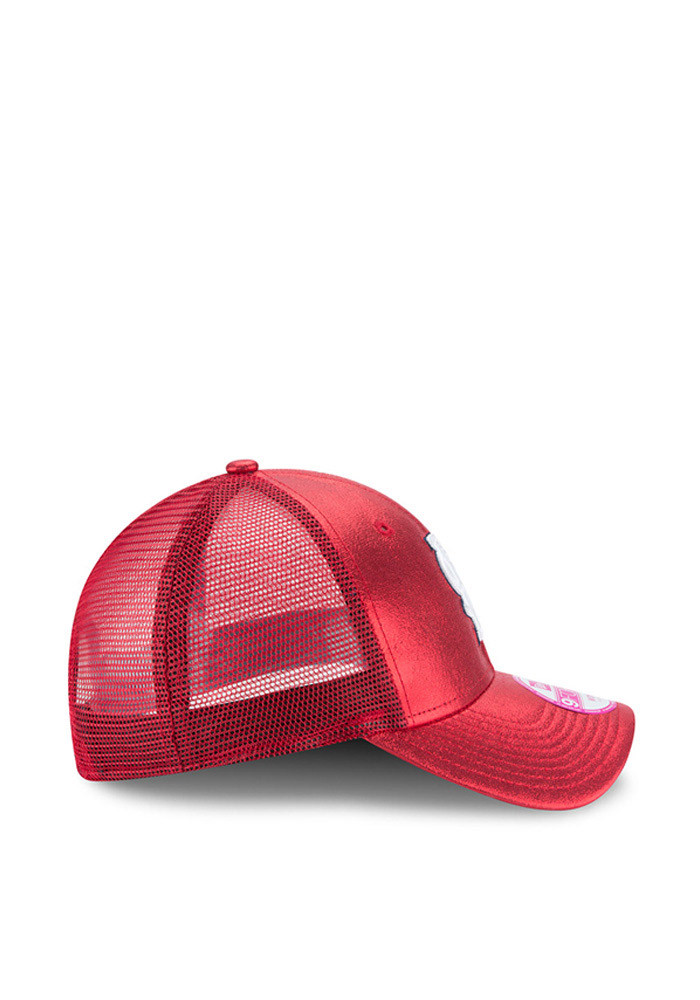 New Era St Louis Cardinals Red Glam Team 9FORTY Womens Adjustable Hat - Image 6