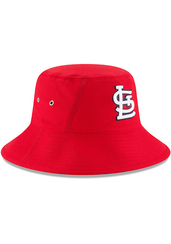 New Era St Louis Cardinals Red 2017 Clubhouse Mens Bucket Hat - Image 2