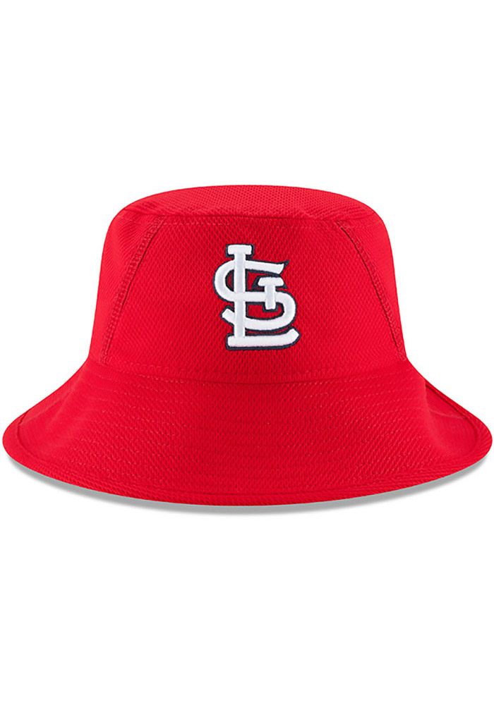 New Era St Louis Cardinals Red 2017 Clubhouse Mens Bucket Hat - Image 3