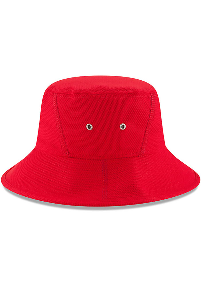 New Era St Louis Cardinals Red 2017 Clubhouse Mens Bucket Hat - Image 6