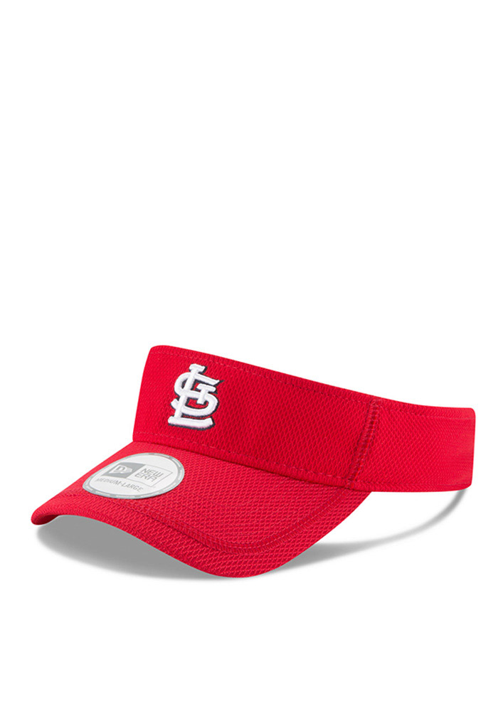 New Era St Louis Cardinals Mens Red 2016 Clubhouse Adjustable Visor - Image 1