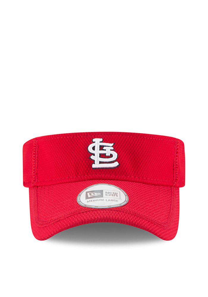 New Era St Louis Cardinals Mens Red 2016 Clubhouse Adjustable Visor - Image 2