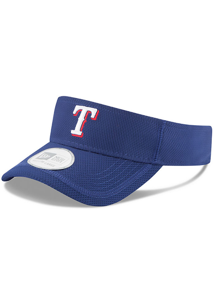 New Era Texas Rangers Mens Blue 2017 Clubhouse Adjustable Visor - Image 1