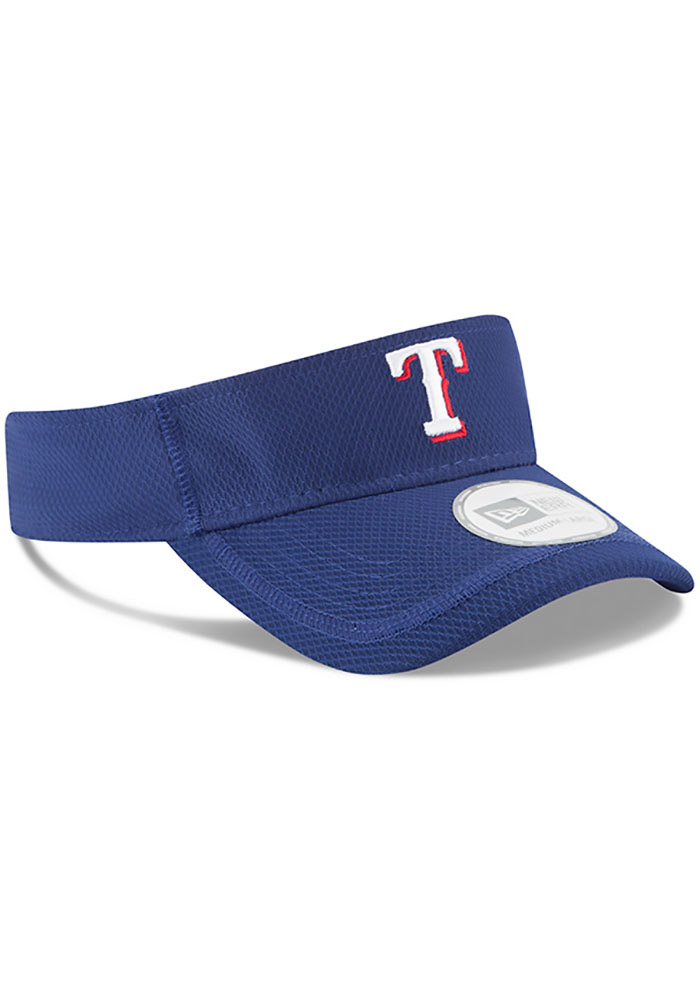 New Era Texas Rangers Mens Blue 2017 Clubhouse Adjustable Visor - Image 2
