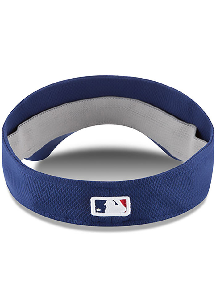 New Era Texas Rangers Mens Blue 2017 Clubhouse Adjustable Visor - Image 5