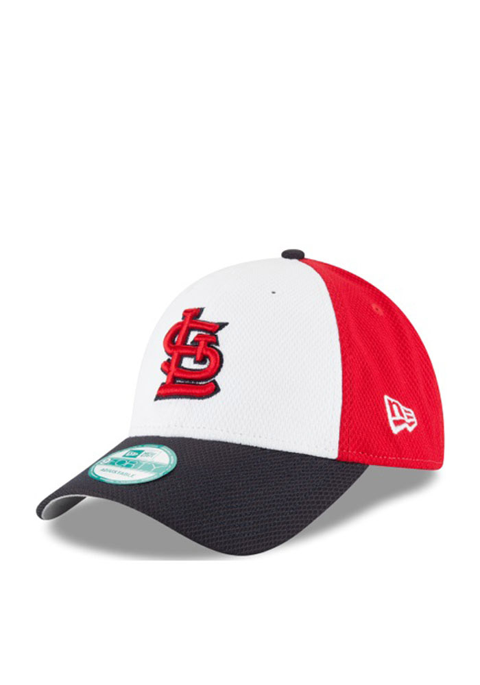New Era St Louis Cardinals Perf Block 9FORTY Adjustable Hat - Red - Image 1