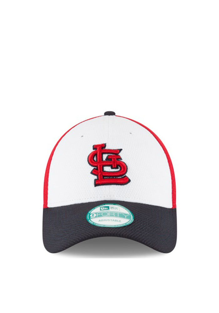 New Era St Louis Cardinals Perf Block 9FORTY Adjustable Hat - Red - Image 2