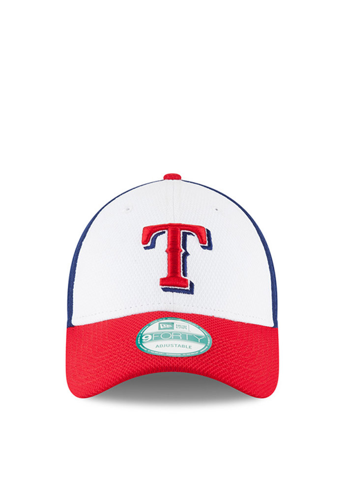 New Era Texas Rangers Mens Blue Perf Block 9FORTY Adjustable Hat - Image 2