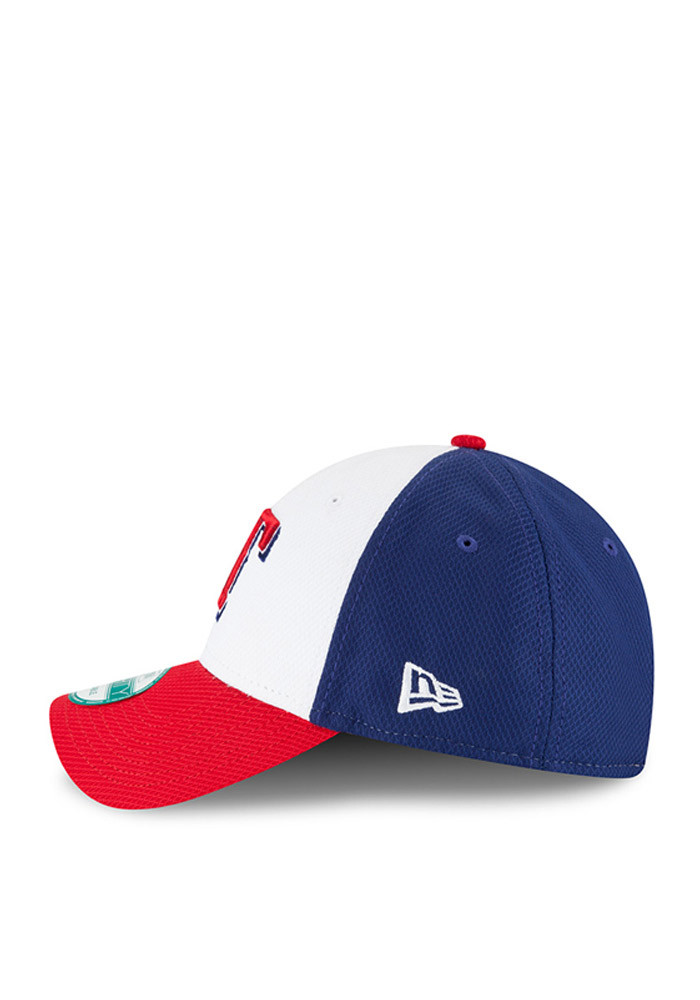 New Era Texas Rangers Mens Blue Perf Block 9FORTY Adjustable Hat - Image 3