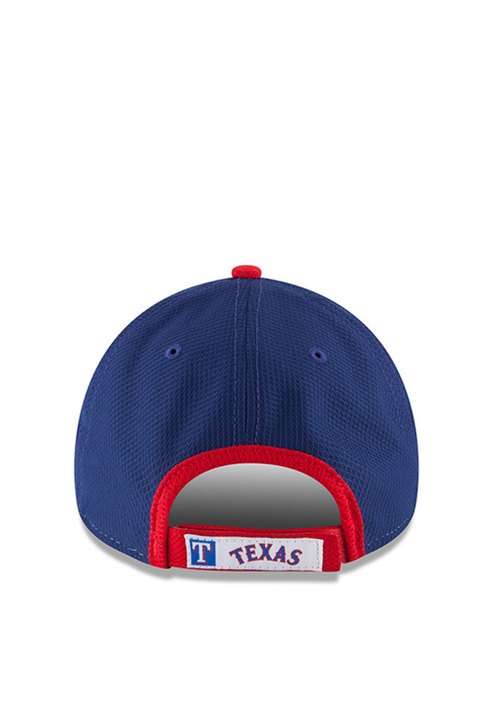 New Era Texas Rangers Mens Blue Perf Block 9FORTY Adjustable Hat - Image 4