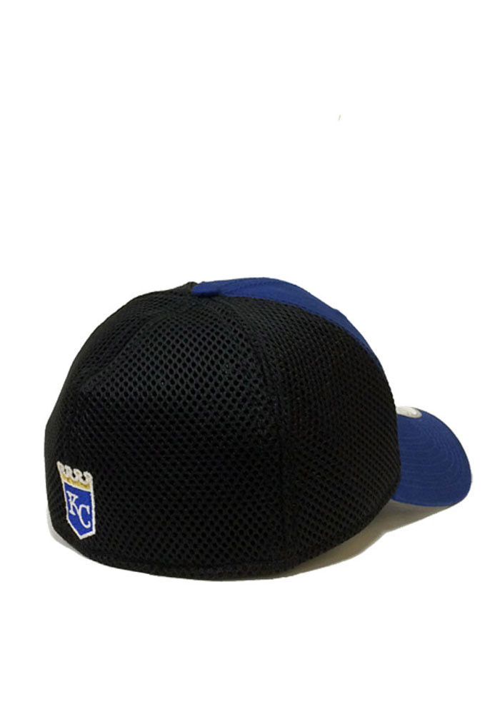 New Era Kansas City Royals Mens Blue Team Fronted Neo 39THIRTY Flex Hat - Image 2